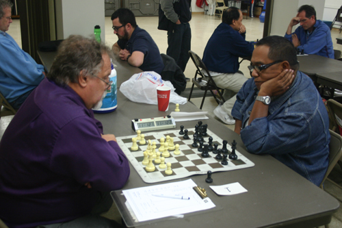 Melandro Singson (right) in the game that earned him the National Master title!