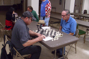 Phil Chase (right), co-winner of the Spring Open.