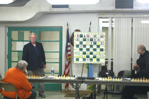IM Tim Taylor giving a lecture before the start of the simul.